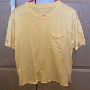 oversized yellow pocket t shirt